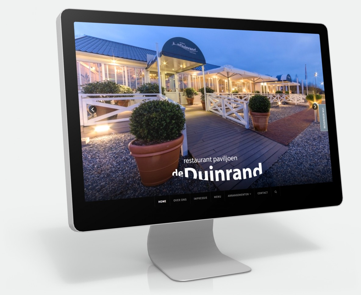 Nieuwe website voor restaurant de duinrand reclamebureau for Buro website
