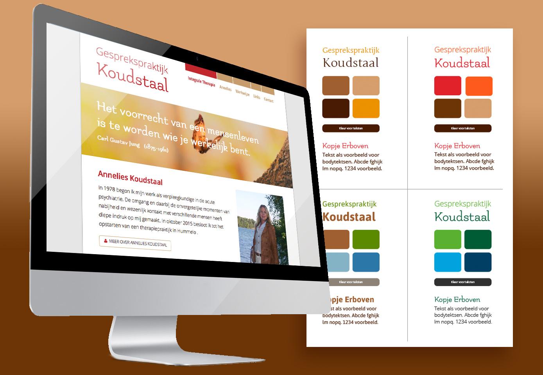 Koudstaal website 2 reclamebureau reeuwijk buro vink for Buro website