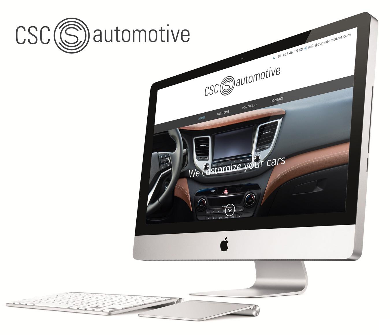 Nieuwe huisstijl en website voor csc automotive oosterhout for Buro website