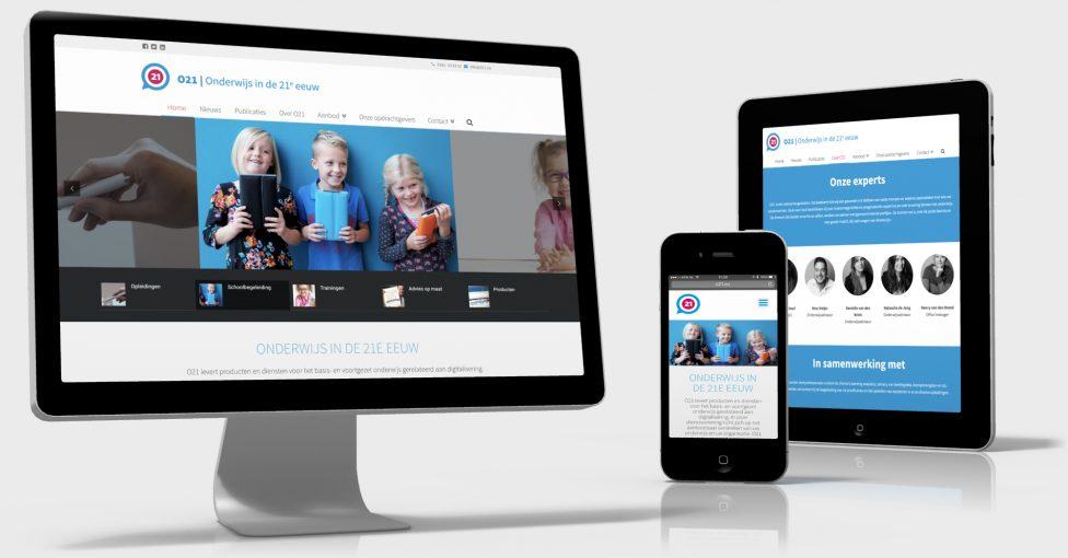 Website o21 vernieuwd reclamebureau reeuwijk buro vink for Buro website